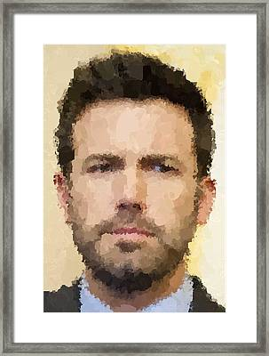 Ben Affleck Portrait Framed Print by Samuel Majcen