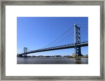 Ben Franklin Bridge Framed Print by Olivier Le Queinec
