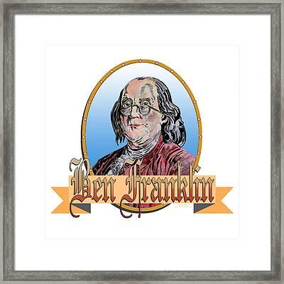 Ben Franklin Framed Print by John Keaton
