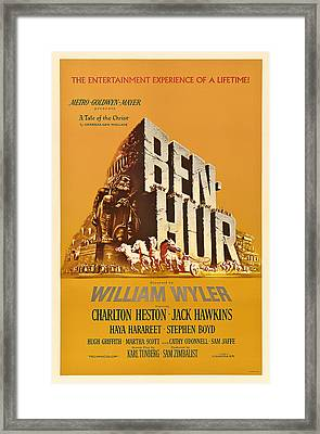 Ben Hur Movie Poster Framed Print by Mountain Dreams
