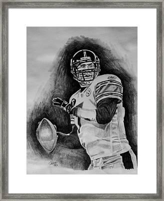Ben Roethlisberger Framed Print by Jeremy Moore