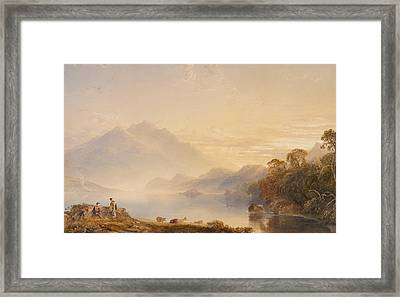 Ben Venue And The Trossachs Seen From Loch Achray Framed Print by Anthony Vandyke Copley Fielding