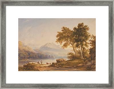 Ben Vorlich And Loch Lomond Framed Print by Anthony Vandyke Copley Fielding