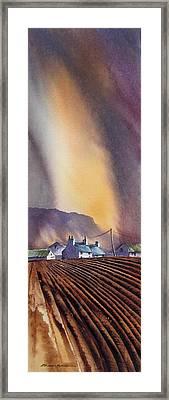Benbulbin Farm Framed Print by Roland Byrne