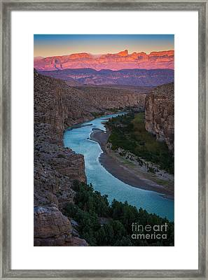 Bend In The Rio Grande Framed Print by Inge Johnsson