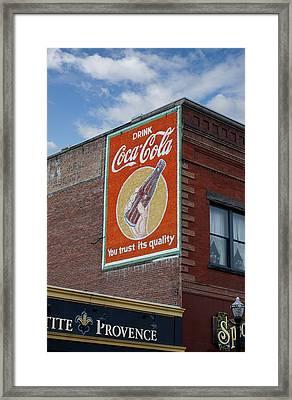 Bend Oregon Coke Sign Framed Print by Gary Grayson