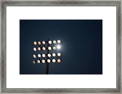 Beneath Friday Night Lights Framed Print by Trish Mistric