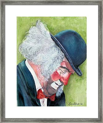 Beneath The Mask Framed Print by Tyna Silver