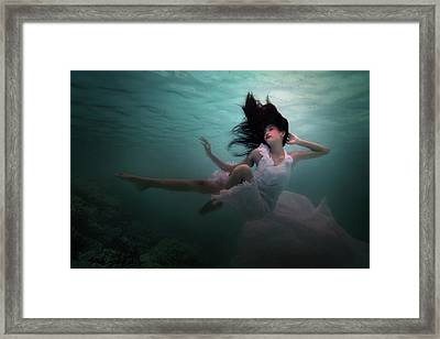Underwater Diva Framed Print featuring the photograph Beneath The Sea by Martha Suherman