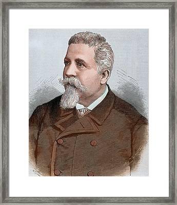 Benedetto Cairoli (pavia, 1825 Framed Print by Prisma Archivo