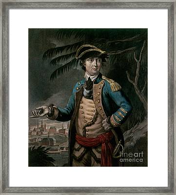 Benedict Arnold Framed Print by English School