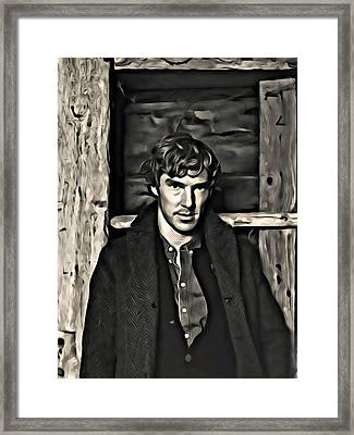 Benedict Cumberbatch Painting Framed Print by Florian Rodarte