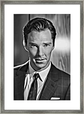 Benedict Cumberbatch Portrait Framed Print by Florian Rodarte
