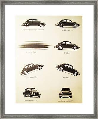 Benefits Of A Volkwagen Framed Print by Georgia Fowler