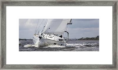 Beneteau Oceanis 45 Hull #1 Sailboat  Framed Print by Dustin K Ryan