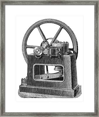 Benier Gas Engine Framed Print by Science Photo Library