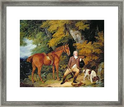 Benjamin Bond Hopkins, Before 1791 Framed Print by Francis Wheatley