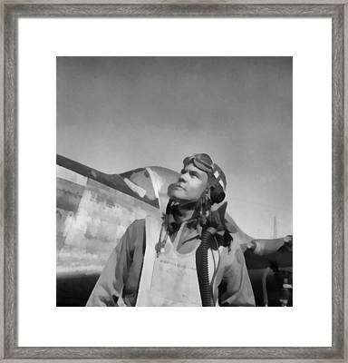 Benjamin Davis Tuskegee Airmen Framed Print by Dan Sproul