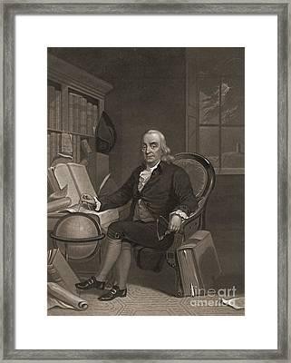 Benjamin Franklin 1846 Framed Print by Padre Art