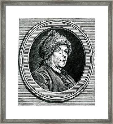 Benjamin Franklin Framed Print by Collection Abecasis
