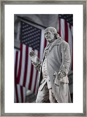 Benjamin Franklin Framed Print by Eduard Moldoveanu