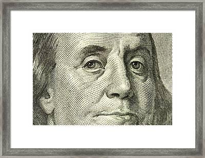 Benjamin Franklin Portrait Framed Print by Samuel Kessler