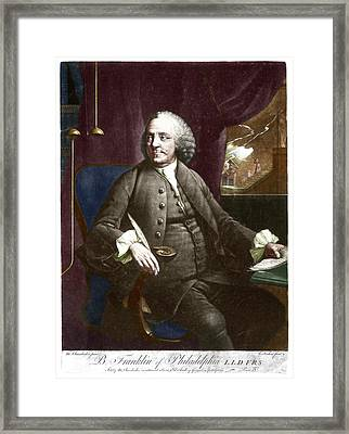 Benjamin Franklin Framed Print by Science Photo Library