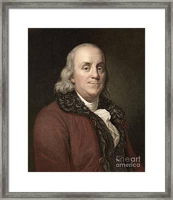 Benjamin Franklin, Scientist, 1778 Framed Print by Paul D. Stewart