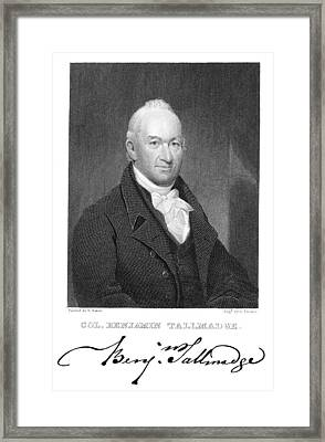 Benjamin Tallmadge Framed Print by Granger