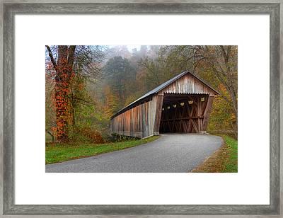 Bennett Mill Covered Bridge Framed Print by Jack R Perry