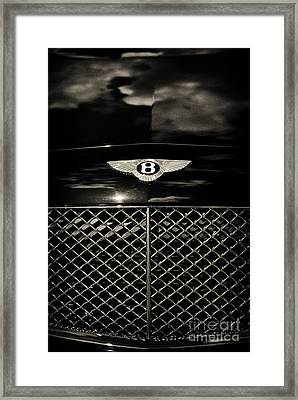 Bentley Continental Gt Sepia Framed Print by Tim Gainey