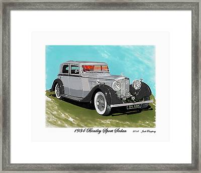 Bentley Sport Sedan 1934 Framed Print by Jack Pumphrey