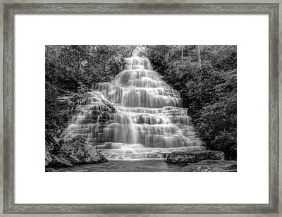 Benton Falls In Black And White Framed Print by Debra and Dave Vanderlaan