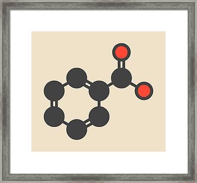 Benzoic Acid Molecule Framed Print by Molekuul