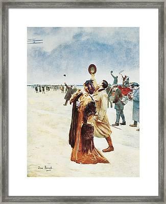 Beraud, Jean 1849-1935. Airplane Flight Framed Print by Everett