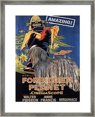 Bergamasco Art Canvas Print - Forbidden Planet Movie Poster Framed Print by Sandra Sij