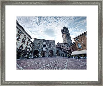 Bergamo Old City Framed Print by Ioan Panaite