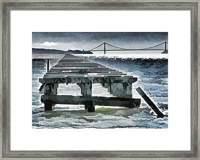 Berkeley Marina Pier Study 1 Framed Print by Samuel Sheats