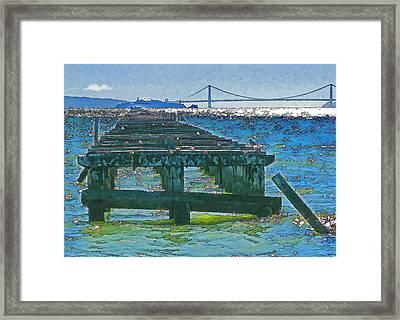 Berkeley Marina Pier Study 2 Framed Print by Samuel Sheats