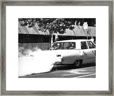Berkeley Police Pepper Gas Framed Print by Underwood Archives Thornton