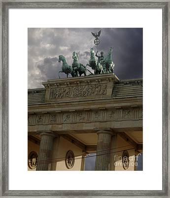Berlin - Brandenburg Gate Framed Print by Gregory Dyer