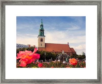 Berlin - St. Mary's Church Framed Print by Alexander Voss