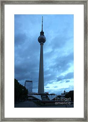 Berlin - Berliner Fernsehturm - Radio Tower No.02 Framed Print by Gregory Dyer