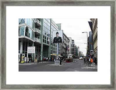Berlin - Checkpoint Charlie Framed Print by Gregory Dyer