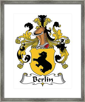 Berlin Coat Of Arms German Framed Print by Heraldry