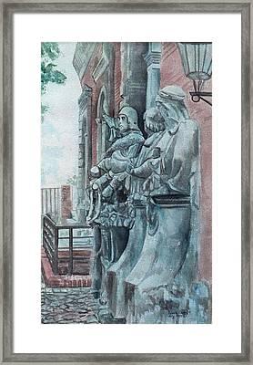 Berlin History Sculptures Framed Print by Leisa Shannon Corbett