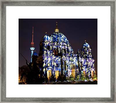 Berlin Light Show Framed Print by Iryna Soltyska