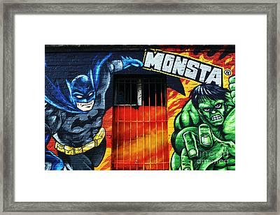 Berlin Monsta Door Framed Print by John Rizzuto