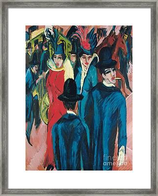 Berlin Street Scene Framed Print by Ernst Ludwig Kirchner