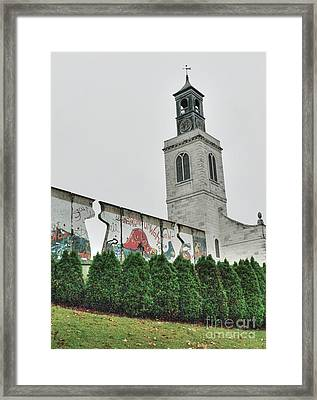 Berlin Wall Segment Framed Print by David Bearden